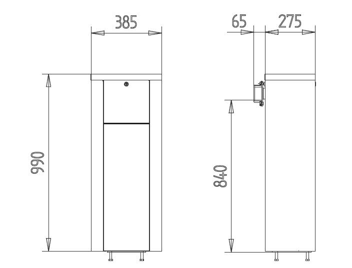 SOL900 barriera per parcheggio con batteria e pannello solare ...